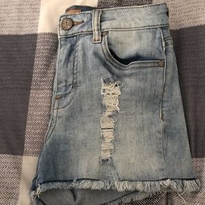 STS BLUE Nordstrom pseudo ripped jean shorts